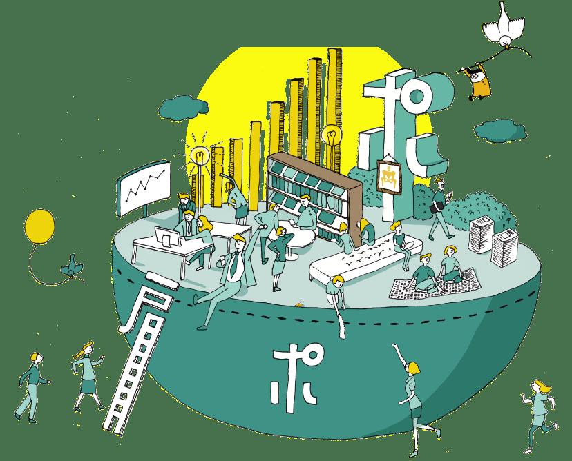 ポケットセラピストによる生産性向上のイメージ
